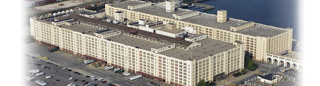 xequipped birds eye view of Brooklyn army terminal